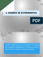5.- Diseño de Experimentos