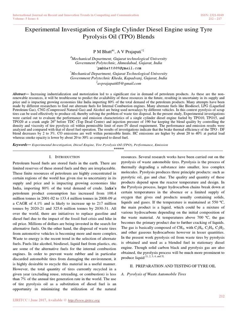 Experimental Investigation of Single Cylinder Diesel Engine