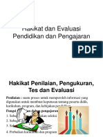 Hakikat Dan Evaluasi Pendidikan Dan Pengajaran