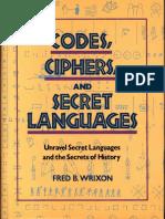 Codes Ciphers Secret Languages