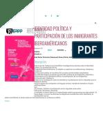 Proyecto - Identidad Política y Participación de Los Inmigrantes Iberoaméricanos