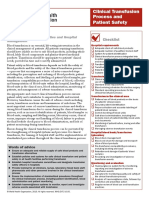 Clinical Transfusion Process and Patient Safety