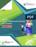 Analisis Indeks Pembangunan Manusia Kota Sabang 2015 2016