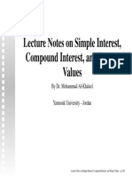 Lecture Notes-Interests and Future Values
