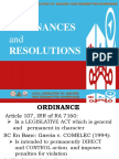 Topic 8 Ordinances & Resolutions