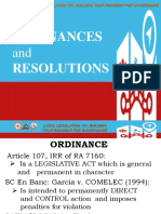 Topic 8 Ordinances & Resolutions