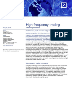 High-frequency Trading- Reaching the Limits