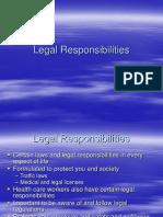 4.1 Legal Responsibilities