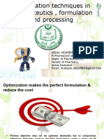 OPTIMIZATION IN PHARMACEUTICS,FORMULATION & PROCESSING_ORIGINAL.ppt