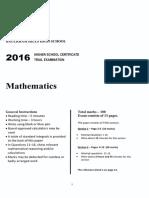 2016 2U Mathematics - Baulkham Hills Trial With Solutions