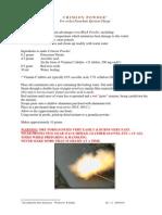 Crimson Powder for Rocket Parachute Ejection Charge