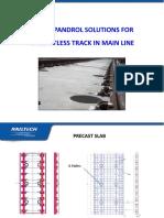 Slab Track for Main Line