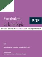 Vocabulaire Biologie Enligne