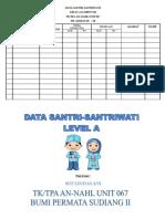Format Data Nama Santri-santriwati