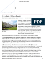 MBA Reading List