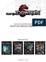 Shadowrun 5 Qualities