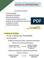 1.1 Introduction metabolisme