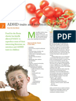 ADHD Traits and Nutrition the Facts by Food for the Brain