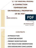 EFFECT OF VARYING MIXING & COMPACTION TEMPERATURE ON MARSHALL PROPERTIES OF BITUMINOUS CONCRETE MIX