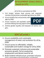 Sustainable Development Goals (Sdg's) Based On