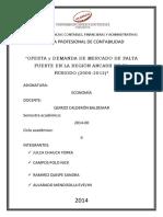 Oferta y Demanda de Mercado de Palta Fuerte en La Región Ancash en El Periodo (2000-2012)