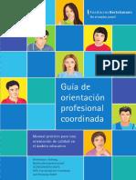 Orientacion Profesional Coordinada Manual Practico Para Una Orientacion de Calidad en El Ambito Educativo