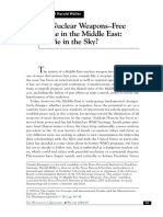 A Nuclear Weapons–Free Zone in the Middle East a Pie in the Sky