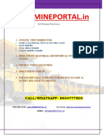 COAL INDIA LTD MANAGEMENT TRAINEE MINING EXAM 2017 INTERVIEW STORY