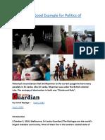 Myanmar  A Good Example for Politics of Polarisation.docx