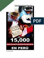 15 Mil Desaparecido en Peru