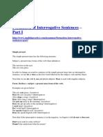 Formation of Interrogative Sentences