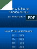 Balance Militar en América Del Sur