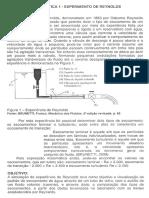 Mecânica Dos Fluidos - Nº de Reynolds 01