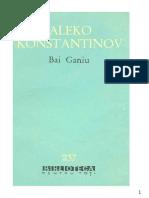 Aleko Konstantinov - Bai Ganiu