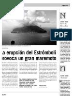 La erupción del Estrómboli provoca un gran maremoto