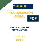 Programación Anual Tercer Año Coar Ica Final