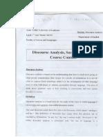 Discourse Analysis 2nd Semester