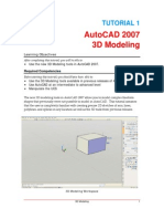 AutoCAD 2007 Tutorial 1