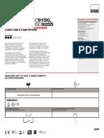 DSE91xx DSE92xx Data Sheet