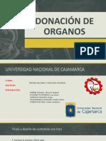 Defensa DONACIÓN DE ÓRGANOS