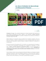 Editora Páginas ofrece Unidades de Aprendizaje Desarrolladas de Educación Primaria.docx
