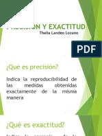 Precisión y Exactitud-t. Landeo