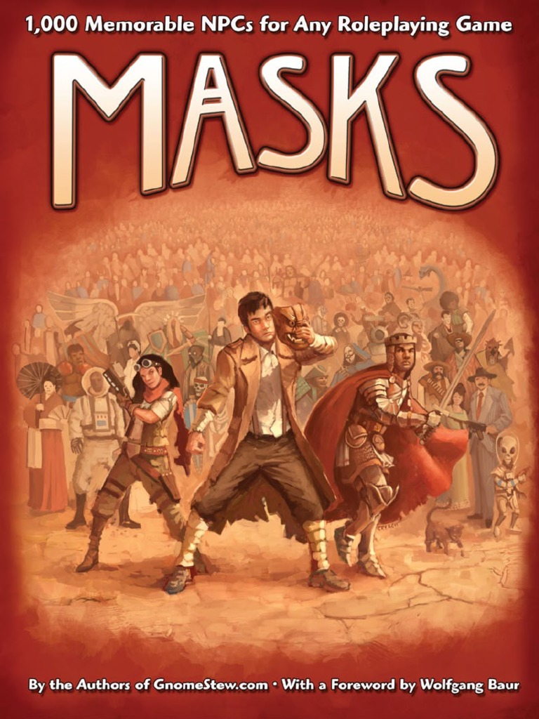gnome stew - masks - 1,000 memorable npcs for any