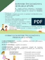 CURRICULUM PENTRU ÎNVĂȚĂMÂNTUL PREȘCOLAR - educație timpurie.pptx