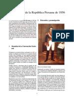 Constitución de La República Peruana de 1856