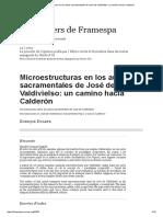 Microestrutura en los autos sacramentales de José de Valdivielso