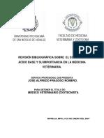 Revision Bibliografica Sobre El Equilibrio Acido Base y Su Importancia en La Medicina Veterinaria