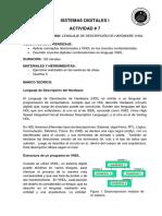 Actividad7 Resolución de Ejercicios Utilizando VHDL.