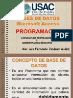 Presentación Base de Datos Ms Access