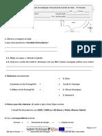 Ficha de Avaliação Sumativa Trimestralestudo Do Meio - 3º Período Final